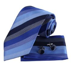 Black Blue Stripes 100% Silk Tie Cufflinks for Men and Handkerchiefs Set with Presentation Box PH1022 One Size Blue Epoint,http://www.amazon.com/dp/B002C1FCSU/ref=cm_sw_r_pi_dp_WpUEtb1C8WQPVH2X