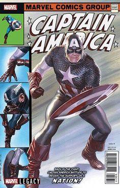 Capitão América de Alex Ross para John Romita Sr.