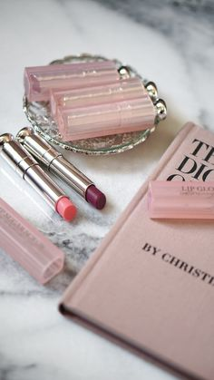 Dior Addict Lip Glows are perfect for just a hint of color on lips. Berry is new for spring, as well as a Lip Scrub. Comparison swatches included.
