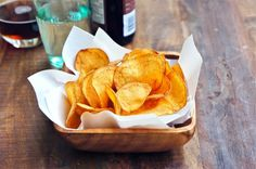 Homemade Garlic Potato Chips  From: Dean and Delucca Cook Book  Via: seasaltwithfood.com