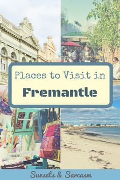 Places to visit in Fremantle Australia - beaches, where to eat and drink in Fremantle, museums, Fremantle markets and more. Make the most of your Fremantle day trip from Perth! Moving To Australia, Perth Australia, Visit Australia, Western Australia, Australia Travel, Brisbane, Sydney, Scenic River Cruises, Scuba Diving Australia