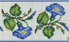Wildflower morning glory cross stitch.