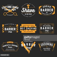 Barbier Shop symboles