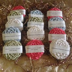 Jabonera de crochet artesanal