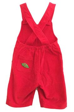 Slugs & Snails Red Corduroy Dungaree Shorts