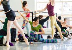 Lia Cirio in class. Photo by Liza Voll.