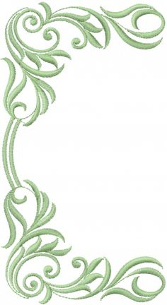 Embellishments(ATG Freedesigns) Embroidery Design: Swirl Frame from Anns Club