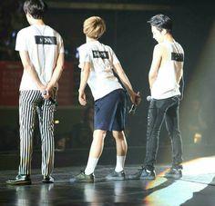 Look at Xiumin staring at Baek's butt Exo Chanbaek, Kim Minseok, Exo Ot12, Chanyeol, Kyungsoo, Hapkido, K Pop, Exo Korea, Exo Group