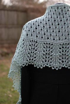 Ravelry: Moulin Rouge pattern by Kirsten Kapur Uses short rows for shaping eyelet portion. Universal Yarn, Christmas Knitting Patterns, Plymouth Yarn, Lang Yarns, Shawl Patterns, Paintbox Yarn, Knitted Shawls, Lace Shawls, Knitted Scarves