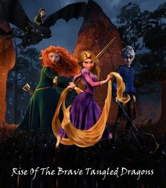 rise of the brave tangled dragons - Google Search