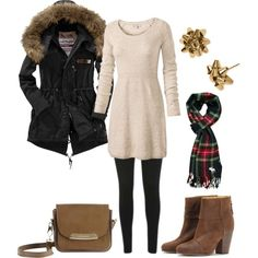 """Christmas Winter Outfit"" by natihasi on Polyvore"