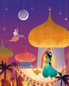 Aladdin and Jasmine | Joey Chou: Disney Pop fusion exhibit