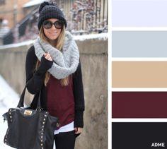 (foto) 15 combinații de culori pentru a asorta corect căciula cu fularul - #diez