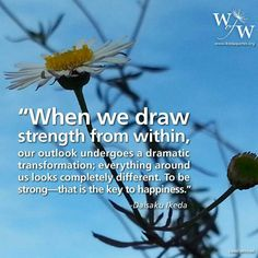 Words of wisdom by SGI President Ikeda.