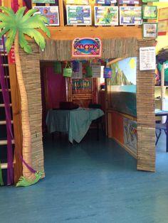 Hawaii role play area. Beach cafe.