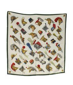 Hermes Casques Et Coiffes Militaires Multi-Color Silk Scarf     eBay