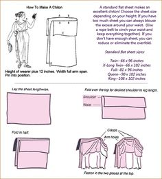 DIY chiton, the authentic ancient Greek way! Not a toga, those are Roman! Ancient Greek Dress, Ancient Greek Clothing, Ancient Greece, Ancient Rome, Greek Chiton, Greek Toga, Toga Dress, Diy Dress, Toga Romana