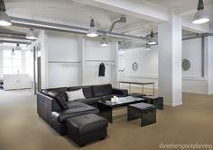 Lounge area - AON's office interior design in Copenhagen - by Danielsen Spaceplanning
