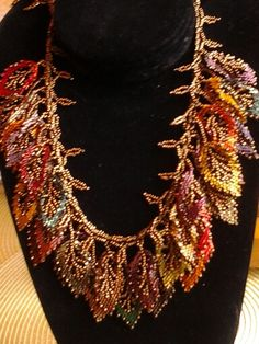 A beautiful russian leaf necklace...love to make these leaves!!!