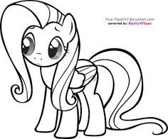 Filly Rarity Coloring Page Free My Little Pony