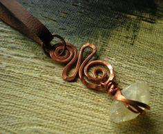 BoHo Citrine and Copper Necklace by BalsamrootRanch.Etsy.com $54.00