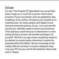 Evil eye Reminder Quotes, Fact Quotes, True Quotes, Words Quotes, Sayings, Qoutes, Hadith Quotes, Muslim Quotes, Religious Quotes