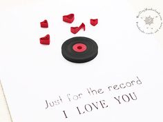 Paper quilling valentines card, quilled i love you card, quilled hearts, blank handmade card