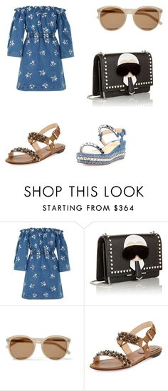 """""""great day"""" by phamthuquynh on Polyvore featuring House of Holland, Fendi, Yves Saint Laurent and Christian Louboutin"""