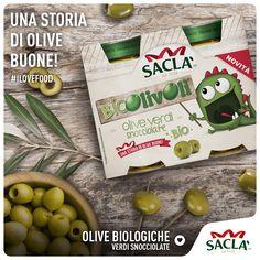 Le olive sono il simbolo di Saclà. Tanti nuovi #prodotti per tutti i #gusti. E ad ogni oliva un suo abbinamento ideale. Oggi parliamo delle #Olive #Biologiche.