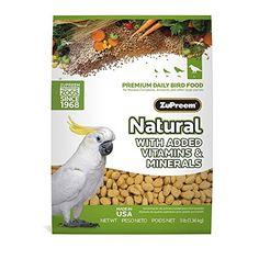 ZuPreem Natural Large Bird Food, 3-Pound - http://www.petsupplyliquidators.com/zupreem-natural-large-bird-food-3-pound/