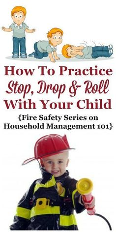 How to practice the technique of stop, drop and roll with your kids {part of the Fire Safety Series on Household Management 101} #StopDropAndRoll #FireSafetyTips #KidsFireSafety Fire Safety For Kids, Fire Safety Tips, Child Safety, Kids Part, Camping First Aid Kit, Home Safety, Safety Work, Drop, Kids Health