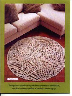 Circular star rug with diagram