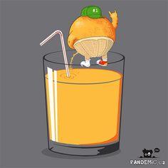 Drunk Orange