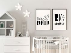 Big Brother Little Sister Wall Art, Brother & Sister Wall Decor, Siblings Art, Shared Room Posters, Little Boy Little Girl Bedroom Decor - Abram and Haizle room - Baby And Toddler Shared Room, Boy And Girl Shared Room, Bedroom Wall, Girls Bedroom, Bedroom Decor, Wall Decor, Sibling Room, Big Brother Little Sister, Sister Room