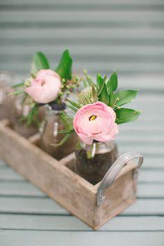 Pink Ranunculus Bud Vase