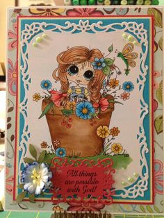 Bestie Button Garden card by Angie Williams Rhodes‎.... (pinned from Facebook)
