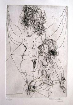 Flavio de Carvalho - Figuras - Gravura em metal - 119/150 - 37,5 x 26 cm - 1972