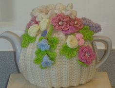 pastel posies... hand knitted crocheted and by peerietreisures