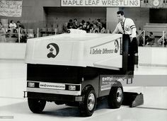 This one safe: The Zamboni used to clear ice at Maple Leaf Gardens is safe; but other ice-cleaning machines used in Canada - such as tractors - may be dangerous; emitting high levels of carbon monoxide. October, 12, 1980.