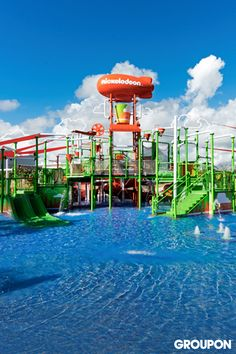 The Nickelodeon Hotels & Resorts Punta Cana in the Dominican Republic is all-inclusive, from meals to access to a cartoon-themed aqua playground.