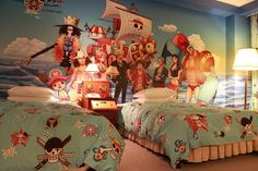 Bedroom With Anime Design Ideas Twin One Piece Bedroom Theme