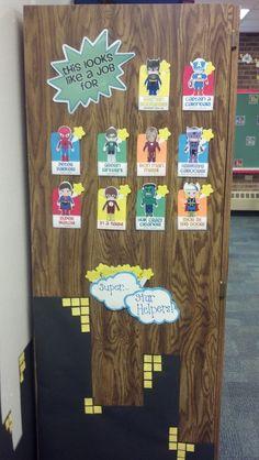 Superhero Classroom Jobs from http://www.teacherspayteachers.com/Store/Hannah-Martin-12