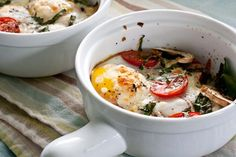 Veggie baked eggs... edible perspective - Home - savory style breakfast