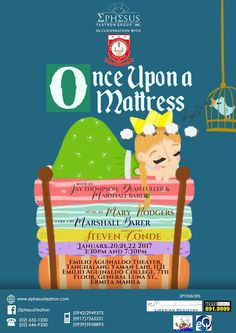 A fantasy musical that sure looks like fun! Emilio Aguinaldo, Once Upon A Mattress, Musicals, Lyrics, Family Guy, Theater, Books, Fun, Fantasy