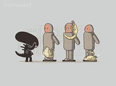 Shirt design available at Shirt.Woot #Alien