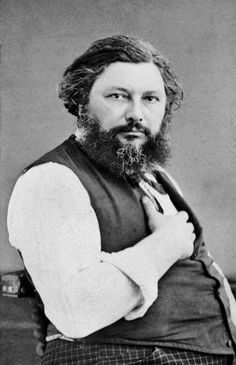 Gustave Courbet. Realisme-painter but gave the impressionist the rough surfaces and being against The Salon.