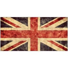 The United Kingdom or Union Jack Grunge Flag. Vintage, Retro Style. Photography by Eazl, Red