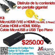 Disfruta de la tecnología MHL con los productos que te ofrece Mekano