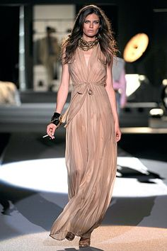 Alessandra Ambrosio wearing Dsquared2 Spring 2011 Dress.