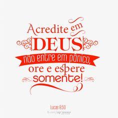 #versiculo #evangelho #acredite #espere #Deus
